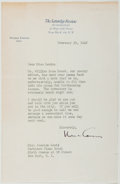 Autographs:Authors, Norman Cousins. Typed Letter Signed. Good....