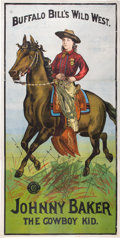 Antiques:Posters & Prints, Johnny Baker: An Important, Possibly Unique 3-Sheet Poster, Circa1889. ...