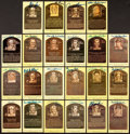Autographs:Post Cards, Signed Yellow Baseball HoF Plaque Post Cards PSA/DNA Collection(22) With Al Lopez. ...