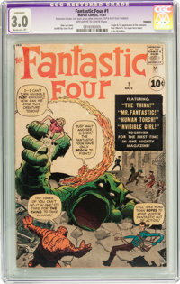 Fantastic Four #1 (Marvel, 1961) CGC Apparent GD/VG 3.0 Moderate (P) Off-white to white pages