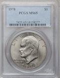 Eisenhower Dollars, (5)1978 $1 MS65 PCGS. ... (Total: 5 coins)