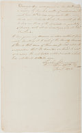 Autographs:Statesmen, Richard Harrison. Final Page of Legal Opinion, Signed. Fair.Harrison was an American merchant and diplomat, whose career cu...
