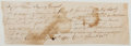 Autographs:Military Figures, [Revolutionary War]. Autograph Note Signed. Written and signed by Connecticut Colonel Charles Burrall, ordering the transfer...