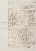 Autographs:Non-American, William Barclay (1546-1608, Scottish Jurist). Autograph LegalDocument in French, Signed. Good. ...