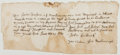 Autographs:Non-American, [Seventeenth-Century English Court Summons]. Autograph DocumentSigned by court officer John Luddurk. Fair....
