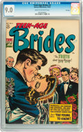 Golden Age (1938-1955):Romance, Teen-Age Brides #2 File Copy (Harvey, 1953) CGC VF/NM 9.0 Cream tooff-white pages....