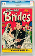 Golden Age (1938-1955):Romance, Teen-Age Brides #4 File Copy (Harvey, 1954) CGC VF/NM 9.0 Cream tooff-white pages....