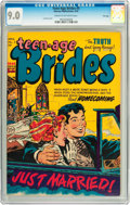 Golden Age (1938-1955):Romance, Teen-Age Brides #5 File Copy (Harvey, 1954) CGC VF/NM 9.0 Cream tooff-white pages....