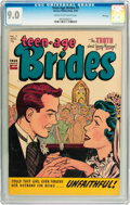 Golden Age (1938-1955):Romance, Teen-Age Brides #7 File Copy (Harvey, 1954) CGC VF/NM 9.0 Cream tooff-white pages....
