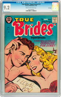 True Brides' Experiences #11 File Copy (Harvey, 1955) CGC NM- 9.2 Cream to off-white pages
