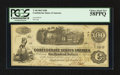 Confederate Notes:1862 Issues, Fully Framed T40 $100 1862.. ...