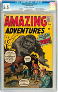 Silver Age (1956-1969):Horror, Amazing Adventures #1 (Marvel, 1961) CGC FN- 5.5 Off-white to whitepages....