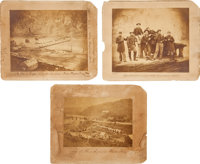 Group of Three Probably Unknown/ Unpublished Civil War Views of Harpers Ferry, Virginia