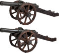 Military & Patriotic:Foreign Wars, Remarkable Pair of Bronze Cannons Modeled After 17th Century Continental Types.... (Total: 4 )