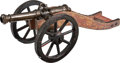 Military & Patriotic:Civil War, Fine 19th Century European Model Brass Cannon and Wood Carriage.... (Total: 2 )