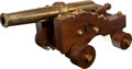 Military & Patriotic:Civil War, Brass Naval Model/Signal Cannon....