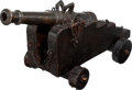 Military & Patriotic:Revolutionary War, Superb Model of a European 18th Century Naval Cannon....