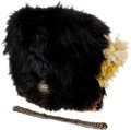 Militaria:Helmets, British Bearskin (Raccoon Skin) Cap Identified to an Officer in theLancashire Fusiliers....