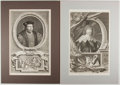 Books:Prints & Leaves, Group of Two Engraved Prints of British Historical Figures. Approx.16.5 x 10 inches. Matted. Near fine.... (Total: 2 Items)