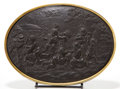 Decorative Arts, British:Other , A WEDGWOOD BLACK BASALT PLAQUE . Wedgwood, Burslem(Stoke-on-Trent), Staffordshire, England, circa 1850-1875. Marks:WEDGW...