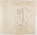 Books:Maps & Atlases, [Map]. Engraved Eighteenth-Century Map of Jerusalem. Approx. 16.75 x 17.75 inches. Very good....