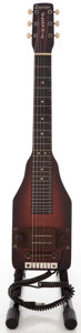 Musical Instruments:Lap Steel Guitars, Circa 1940's Griffin Electric Dark Stain Lap Steel Guitar....