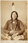 Photography:Cabinet Photos, Sioux Leader Rain-in-the-Face: Cabinet Card by O. S. Goff....