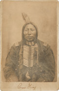 Photography:Cabinet Photos, Sioux Leader Crow King: D. F. Barry Cabinet Card. ...