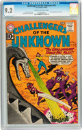 Silver Age (1956-1969):Science Fiction, Challengers of the Unknown #21 (DC, 1961) CGC NM- 9.2 Cream to off-white pages....