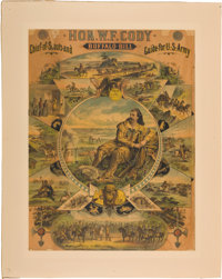"""William F. """"Buffalo Bill"""" Cody: A Rare and Colorful Early Poster"""