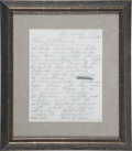 Autographs:Military Figures, George Armstrong Custer: Autograph Letter Signed Two Months beforeHis Death....