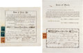 Miscellaneous:Ephemera, Lot of Two Documents from the Town of Paris, Maine... (Total: 2Items)