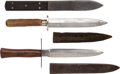 Edged Weapons:Daggers, French Model 1916 Trench Knife With 2 Other Knives... (Total: 3 Items)
