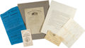 Miscellaneous:Ephemera, Lot of Five Union Soldier James F. Stafford Documents... (Total: 5Items)