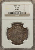 Bust Half Dollars: , 1825 50C XF45 NGC. O-111. NGC Census: (96/757). PCGS Population(152/767). Mintage: 2,900,000. Numismedia Wsl. Price for p...