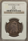 Bust Half Dollars: , 1819/8 50C Small 9 XF40 NGC. O-101. NGC Census: (19/226). PCGSPopulation (25/138). Numismedia Wsl. Price for problem fre...