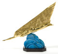 Sculpture, A MAURICE GUIRAUD-RIVIERE (FRENCH, 1881-1947) GILT BRONZE SCULPTURE: THE COMET . Cast by Etling Foundry, Paris, Fran...