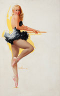 Pulp, Pulp-like, Digests, and Paperback Art, TED WITHERS (American, 1896-1964). Blonde Ballerina, The ArtistSketch Pad calendar pin-up, July 1958. Oil on canvas. 28...