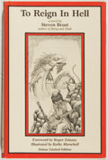 Books:Science Fiction & Fantasy, Steven Brust. SIGNED/LIMITED. To Reign In Hell. SteelDragon Press, 1984. Limited to 1000 numbered and signed copie...