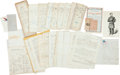 Miscellaneous:Ephemera, Group of Civil War Documents...