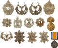 Military & Patriotic:WWI, Lot of 14 British Highland Regiment Hat Badges.... (Total: 14Items)