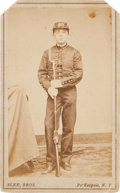 Photography:CDVs, Civil War Period Portrait Of Young Armed Cadet....