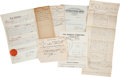 Miscellaneous:Ephemera, Lot of Eight Documents Regarding the Burial of General Louis Palmadi Cesnola...