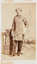 Photography:CDVs, Carte de Visite Of Confederate General Braxton Bragg With New Orleans Backmark....