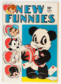 Golden Age (1938-1955):Funny Animal, New Funnies #73 (Dell, 1943) Condition: VF....