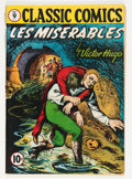Golden Age (1938-1955):Classics Illustrated, Classic Comics #9 Les Miserables - Original Edition (Gilberton, 1943) Condition: GD/VG....