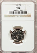 Proof Buffalo Nickels, 1937 5C PR67 NGC....