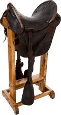 Military & Patriotic:Civil War, Civil War Federal Officer's McClellan Saddle with Smooth Covered Seat.... (Total: 2 Items)