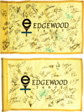 Golf Collectibles:Autographs, Misc. Sports Stars Multi Signed Golf Flags Lot of 2....