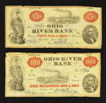 Obsoletes By State:Ohio, Marietta, OH- Ohio River Bank $5 June 15, 1838. Marietta, OH- OhioRiver Bank $100 June 15, 1838. ... (Total: 2 notes)